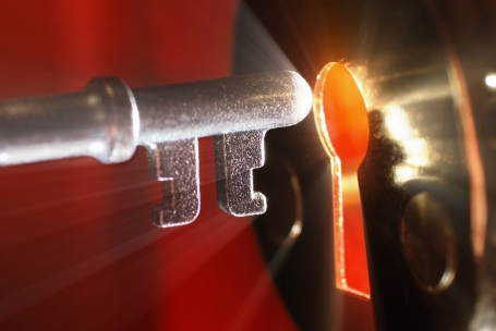 Key & keyhole with light