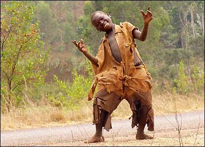 Happy African street kid