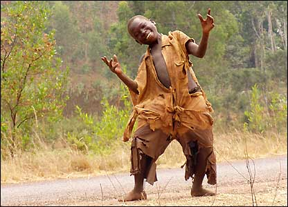 Happy African street kid